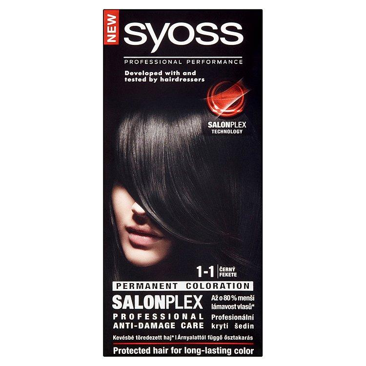 Fotografie Syoss barva na vlasy Černý 1-1