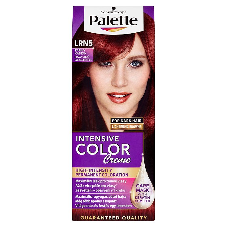 Fotografie Schwarzkopf Palette Intensive Color Creme barva na vlasy Zářivý Kaštan LRN5