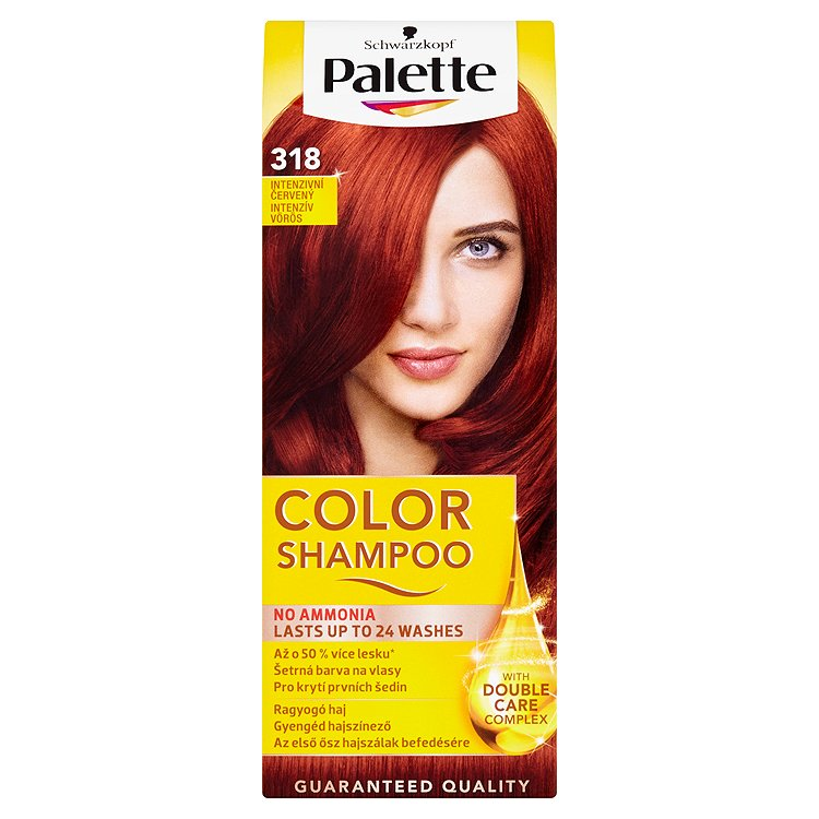 Fotografie Schwarzkopf Palette Color Shampoo barva na vlasy Intenzivní červený 318