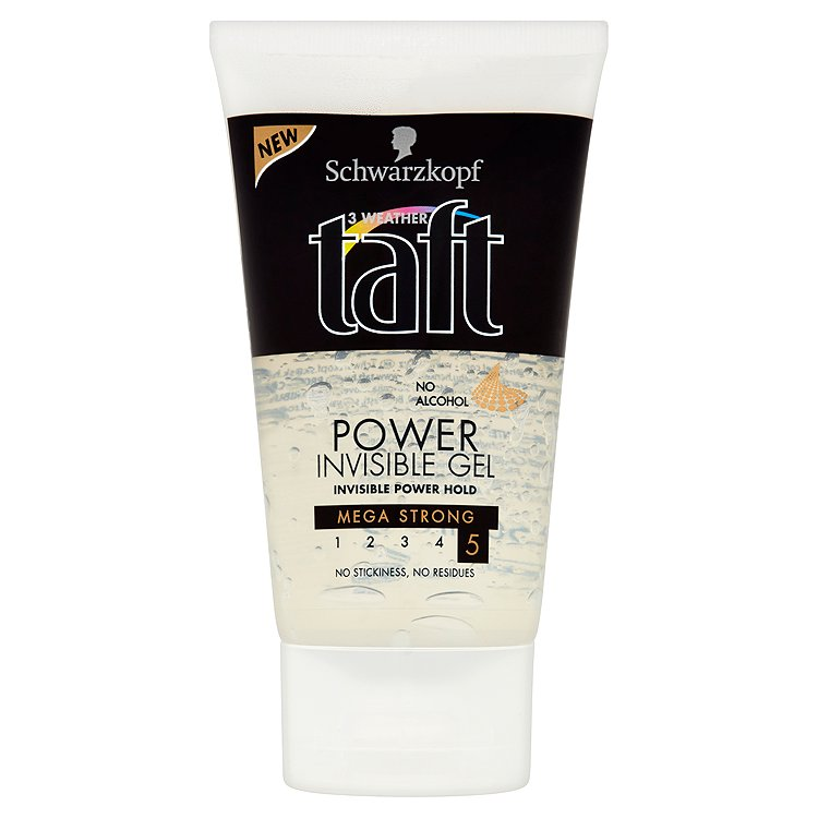 Fotografie Taft Invisible Power stylingový gel 150 ml