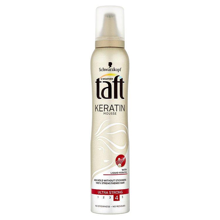 Fotografie Taft Keratin Complete Pěnové tužidlo Ultra silná fixace 200 ml