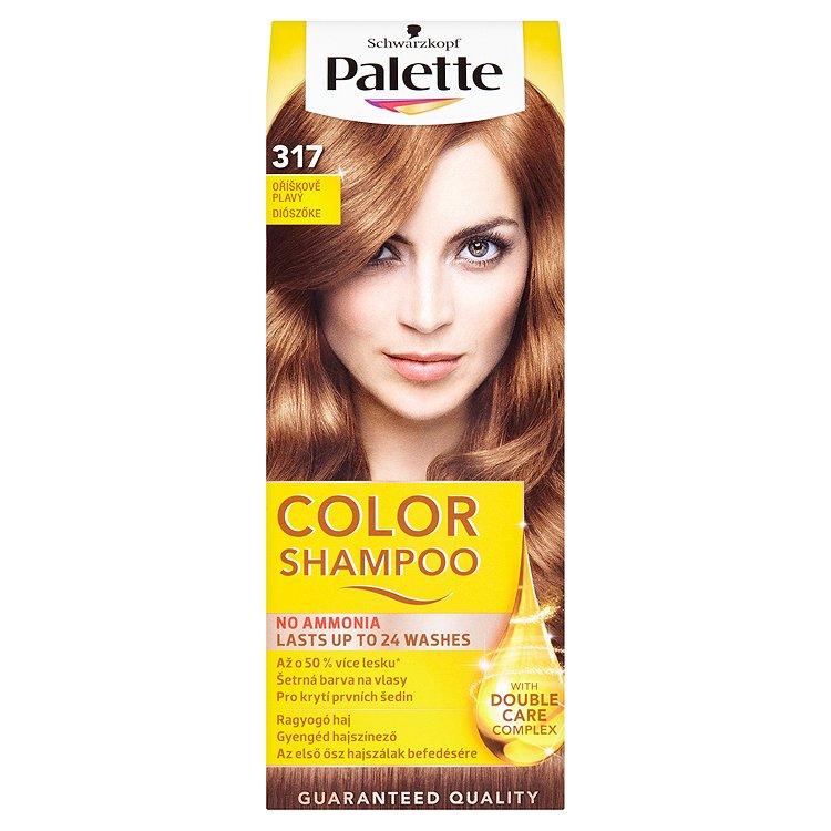 Fotografie Schwarzkopf Palette Color Shampoo barva na vlasy Oříškově Plavý 317