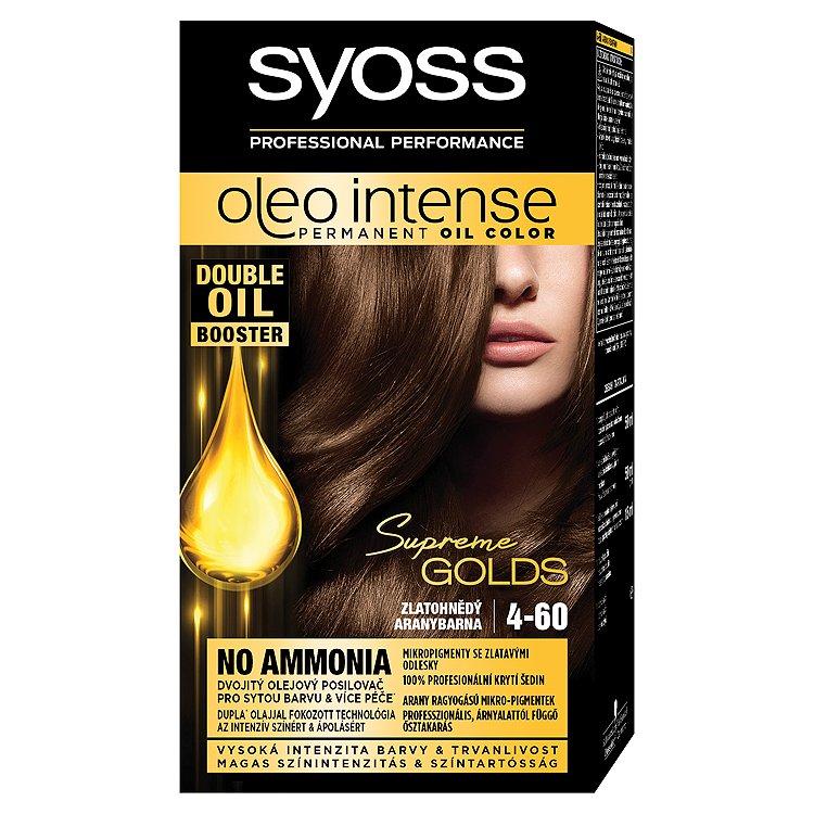 Syoss Oleo Intense dlouhotrvající olejová barva Zlatohnědý 4-60