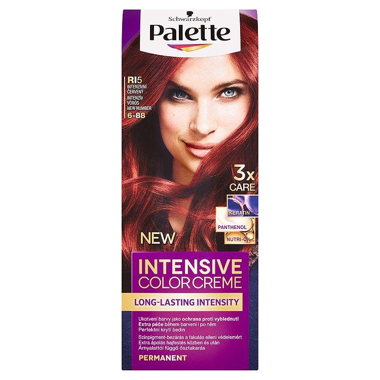 Fotografie Schwarzkopf Palette Intensive Color Creme barva na vlasy Intenzivní Červený RI5 (6-88)