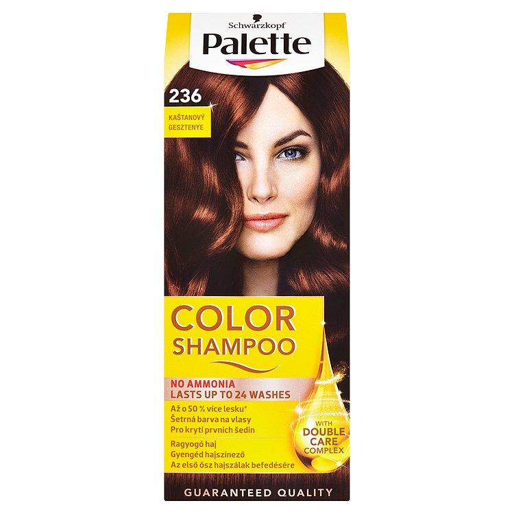 Fotografie Schwarzkopf Palette Color Shampoo barva na vlasy Kaštanový 236