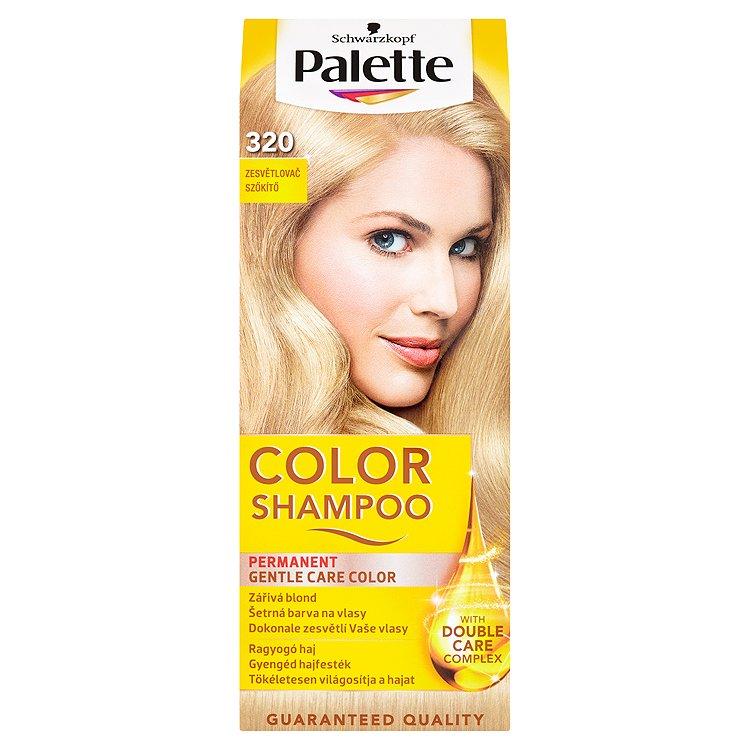 Fotografie Schwarzkopf Palette Color Shampoo barva na vlasy Zesvětlovač 320