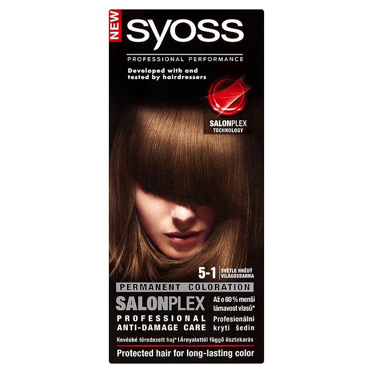 Fotografie Syoss barva na vlasy Světle Hnědý 5-1