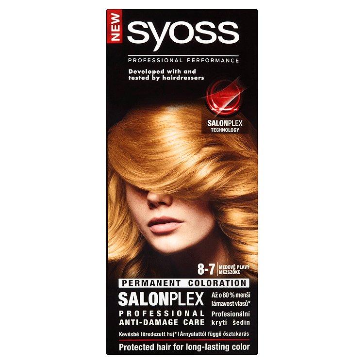 Fotografie Syoss barva na vlasy Medově Plavý 8-7