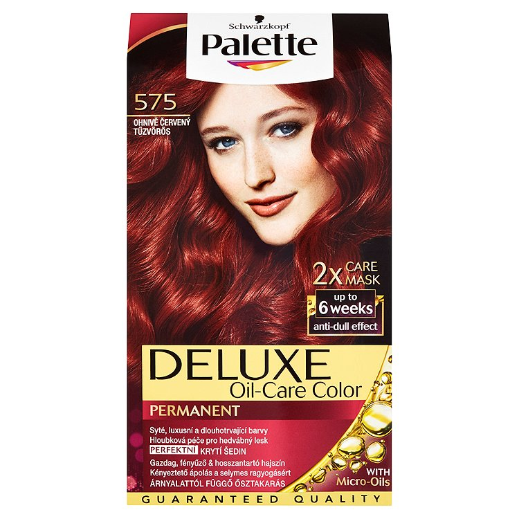 Fotografie Schwarzkopf Palette Deluxe barva na vlasy Ohnivě Červený 575