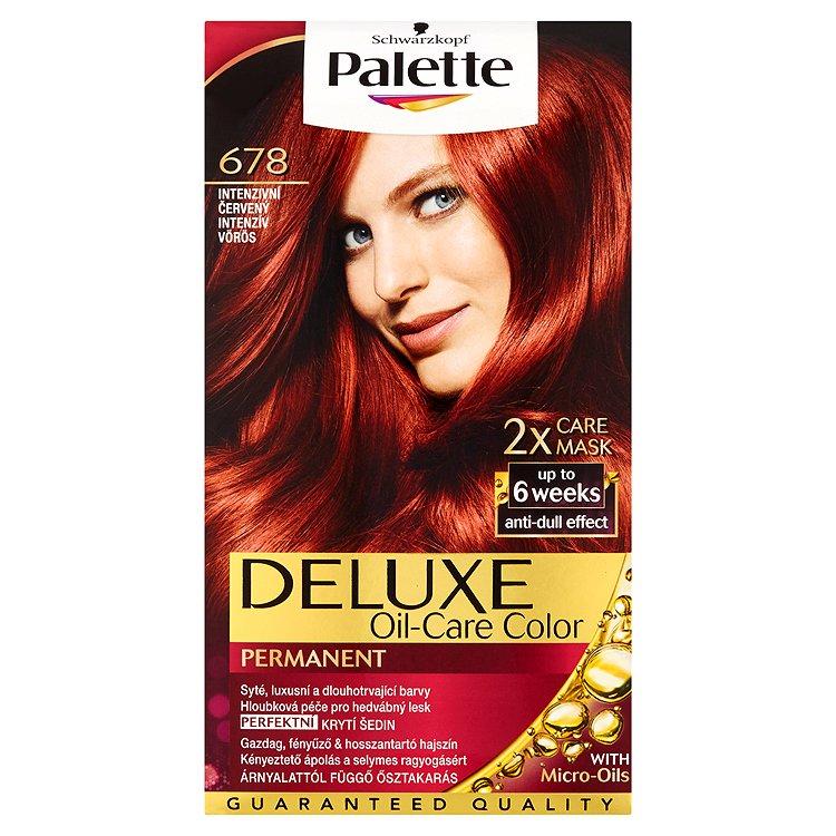 Fotografie Schwarzkopf Palette Deluxe barva na vlasy Intenzivní Červený 678
