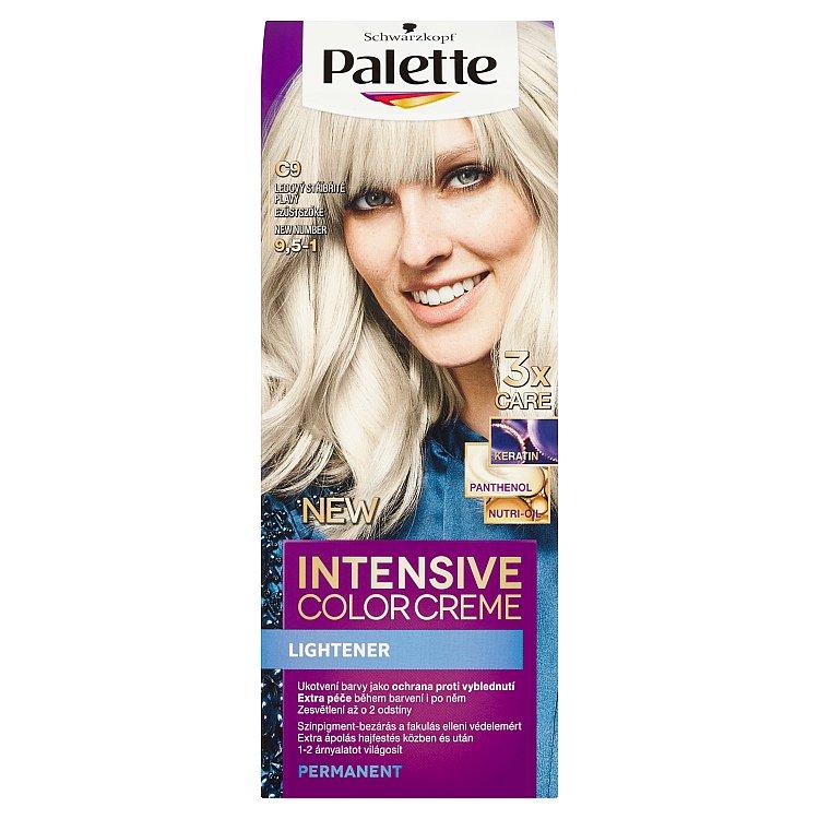 Fotografie Schwarzkopf Palette Intensive Color Creme barva na vlasy Ledový Stříbřitě Plavý C9