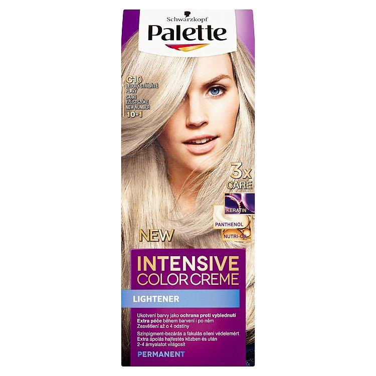 Fotografie Schwarzkopf Palette Intensive Color Creme barva na vlasy Ledový stříbřitě plavý C10