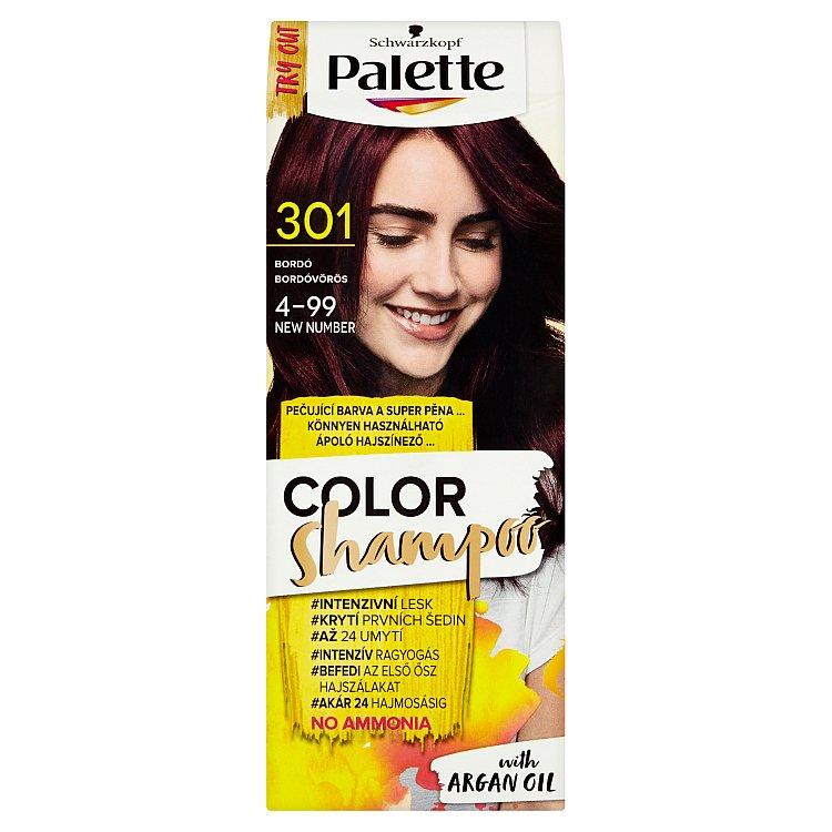 Fotografie Schwarzkopf Palette Color Shampoo barva na vlasy Bordó 301