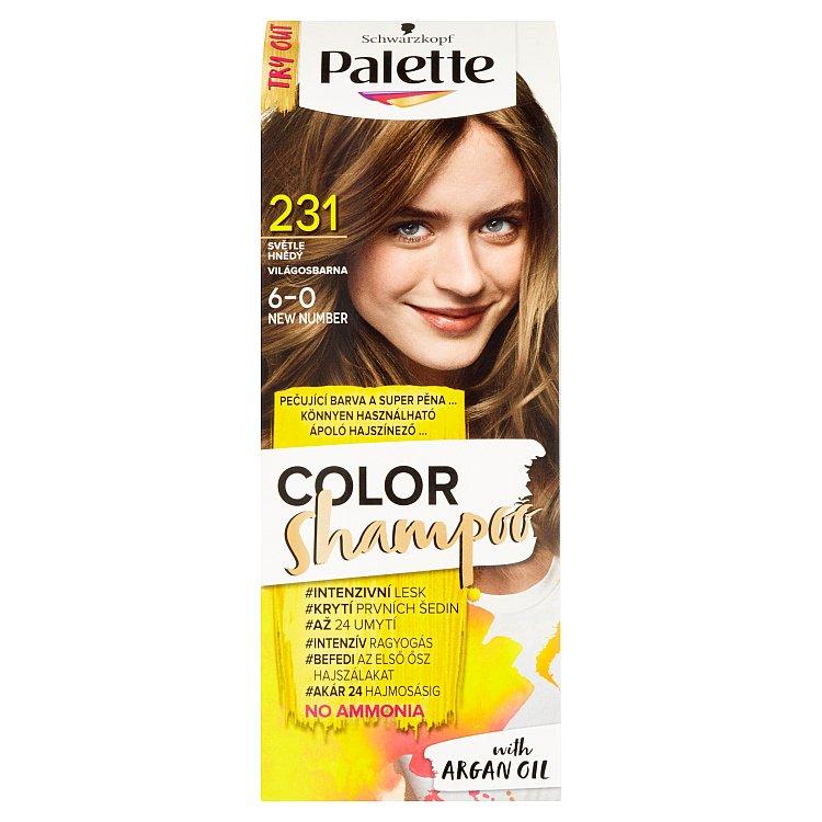 Fotografie Schwarzkopf Palette Color Shampoo barva na vlasy Světle Hnědý 231