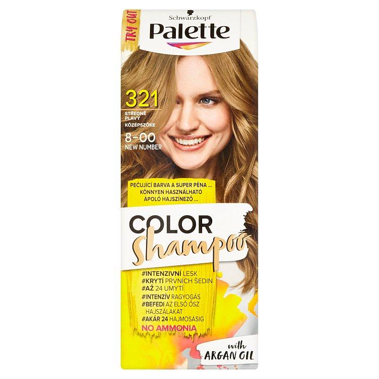 Fotografie Schwarzkopf Palette Color Shampoo barva na vlasy Středně Plavý 321