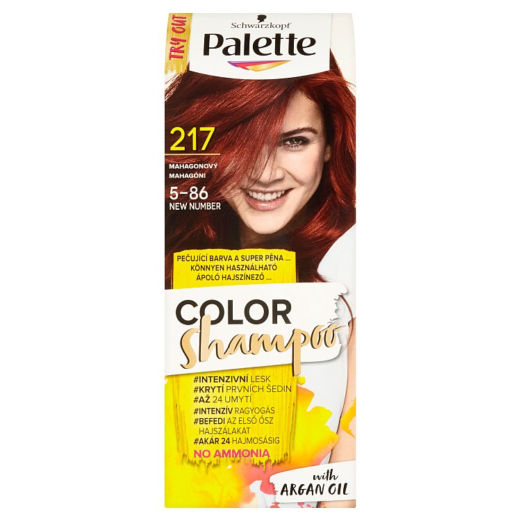 Fotografie Schwarzkopf Palette Color Shampoo barva na vlasy Mahagonový 217