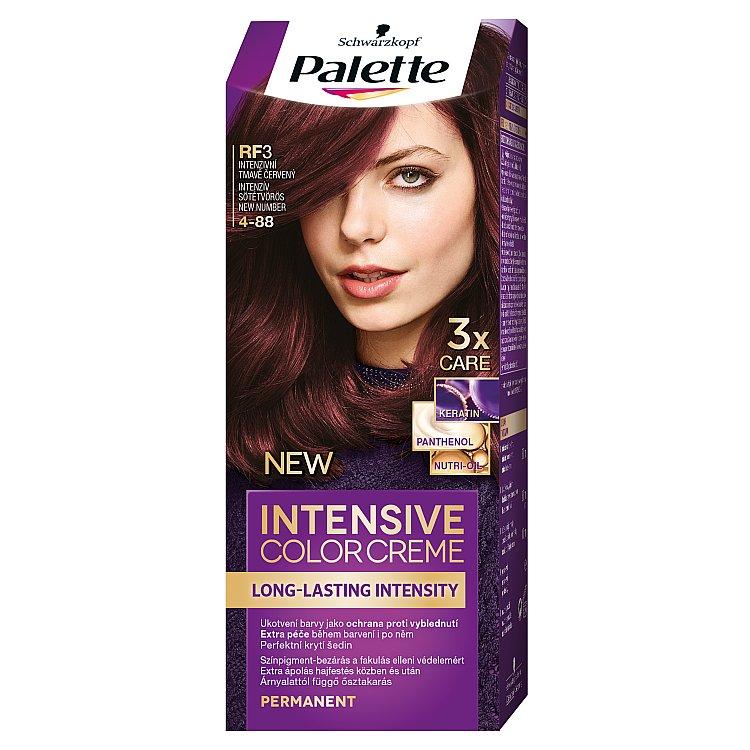 Fotografie Schwarzkopf Palette Intensive Color Creme barva na vlasy Intenzivní Tmavě Červený RF3