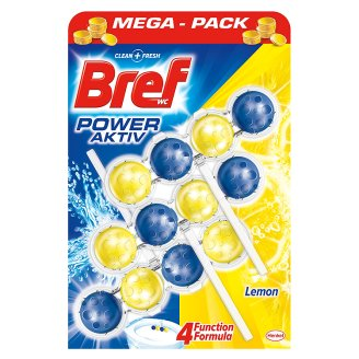 Bref Power Aktiv WC blok, Lemon 3 x 50 g