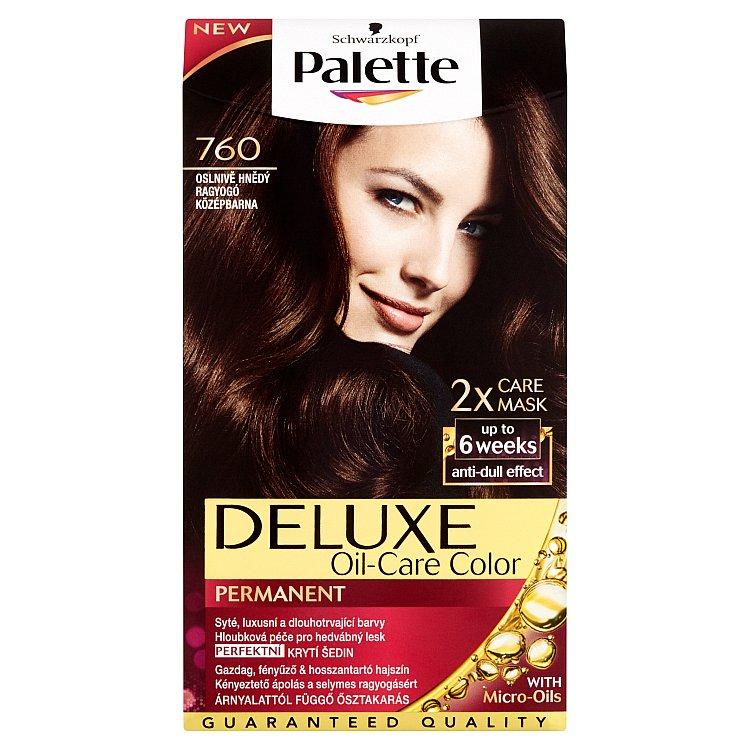 Fotografie Schwarzkopf Palette Deluxe barva na vlasy Oslnivě Hnědý 760