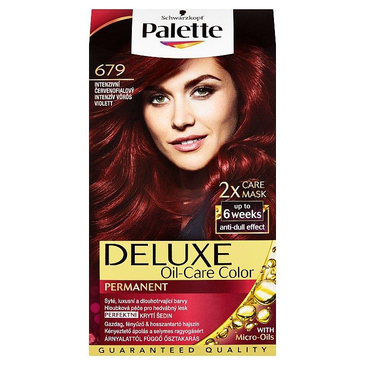 Fotografie Schwarzkopf Palette Deluxe barva na vlasy Intenzivní Červenofialový 679