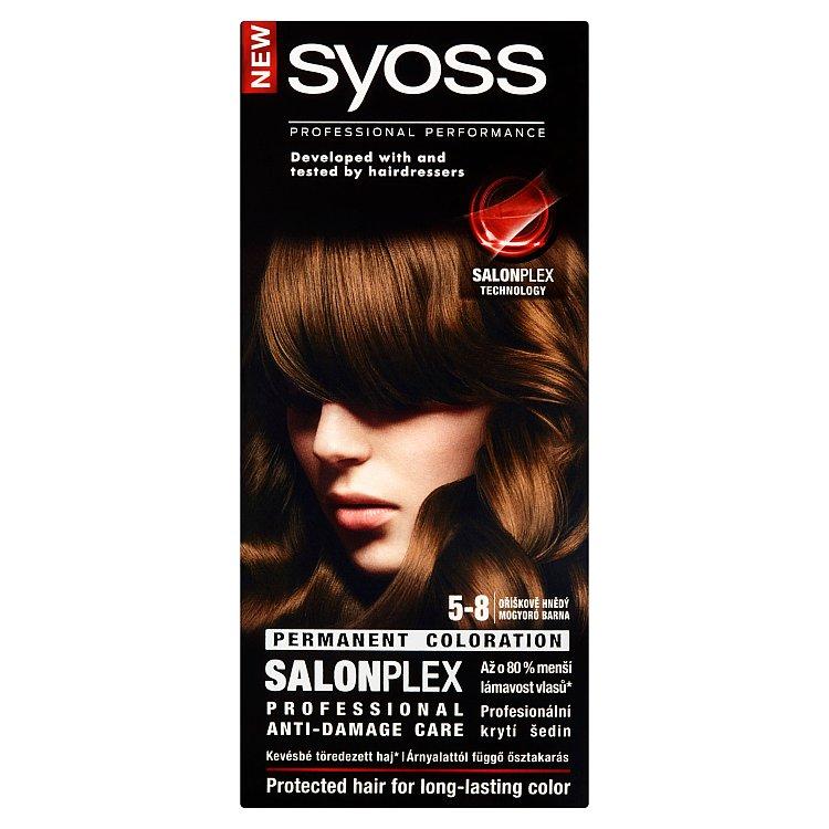 Fotografie Syoss barva na vlasy Oříškově Hnědý 5-8