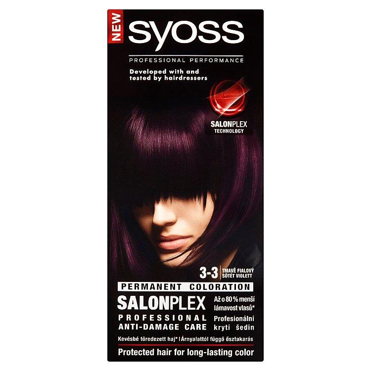 Syoss barva na vlasy Tmavě Fialový 3-3