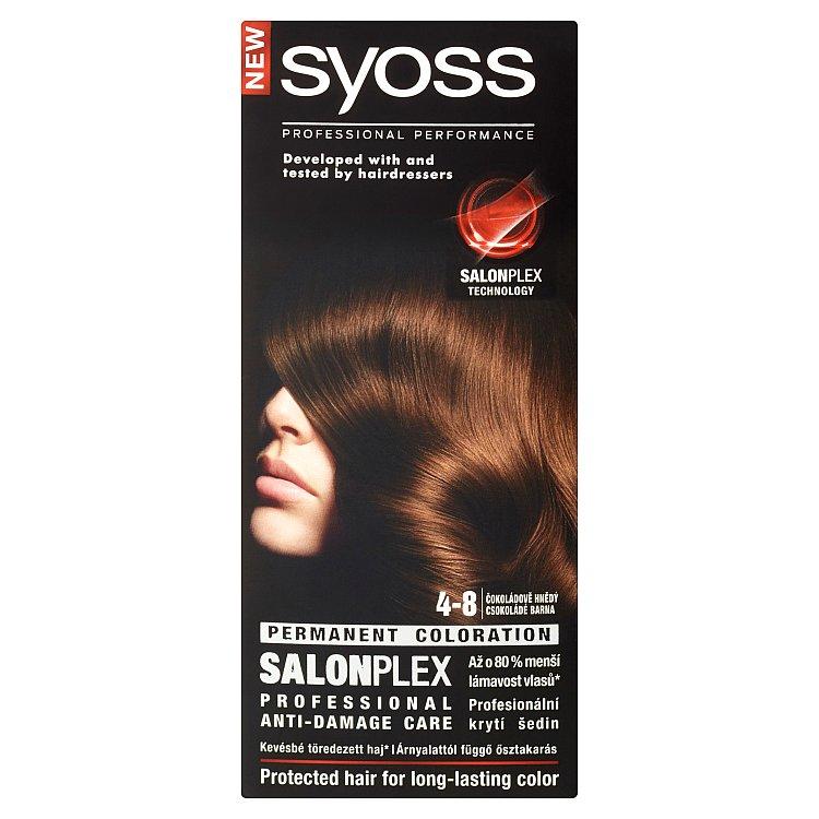 Fotografie Syoss barva na vlasy Čokoládově Hnědý 4-8