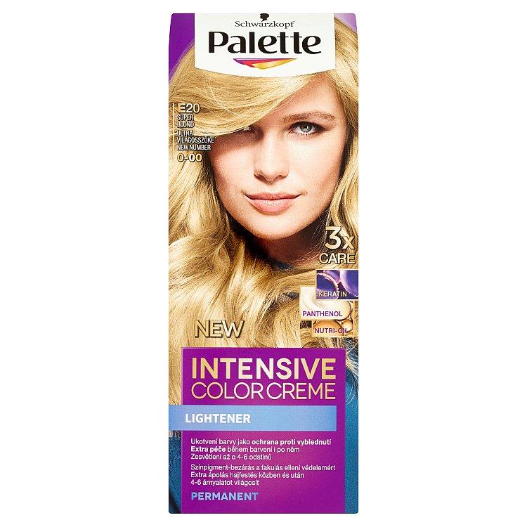 Fotografie Schwarzkopf Palette Intensive Color Creme barva na vlasy Super Blond E20