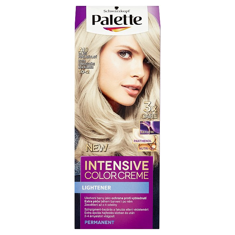 Fotografie Schwarzkopf Palette Intensive Color Creme barva na vlasy Zvlášť Popelavě Plavý A10