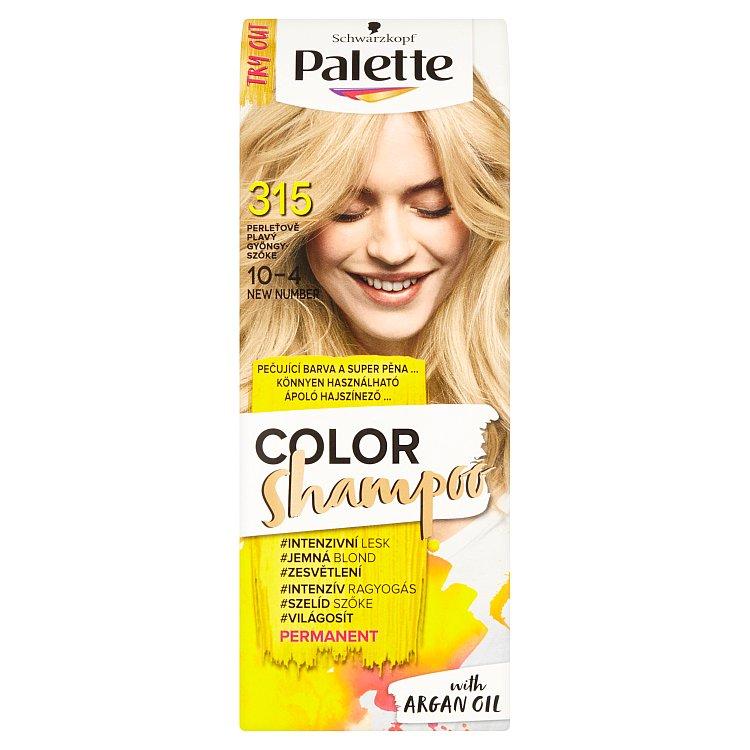 Fotografie Schwarzkopf Palette Color Shampoo barva na vlasy Perleťově Plavý 315