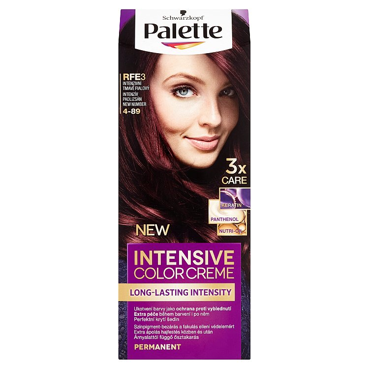 Schwarzkopf Palette Intensive Color Creme barva na vlasy Intenzivní tmavě fialový RFE3