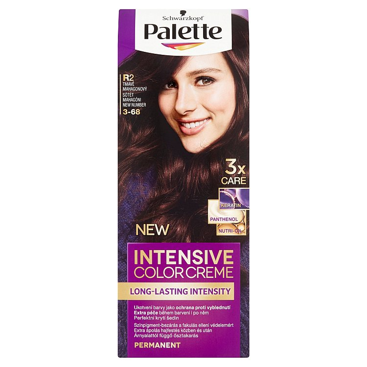 Schwarzkopf Palette Intensive Color Creme barva na vlasy Tmavě Mahagonový R2