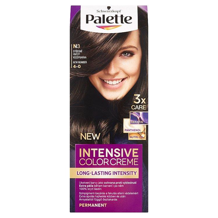 Fotografie Schwarzkopf Palette Intensive Color Creme barva na vlasy Středně Hnědý N3