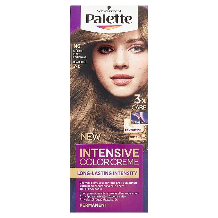 Fotografie Schwarzkopf Palette Intensive Color Creme barva na vlasy Středně Plavý N6