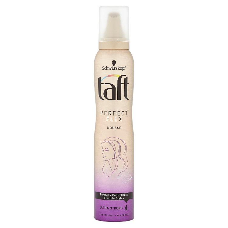Fotografie Taft Perfect Flex Pěnové tužidlo Ultra silná fixace 200 ml