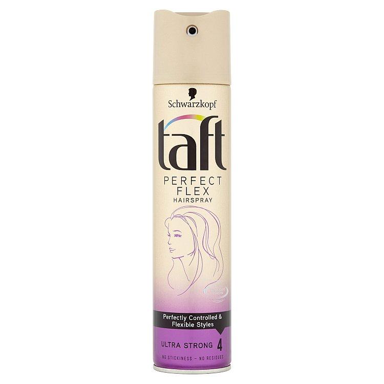 Fotografie Taft Perfect Flex Lak na vlasy Ultra silná fixace 250 ml