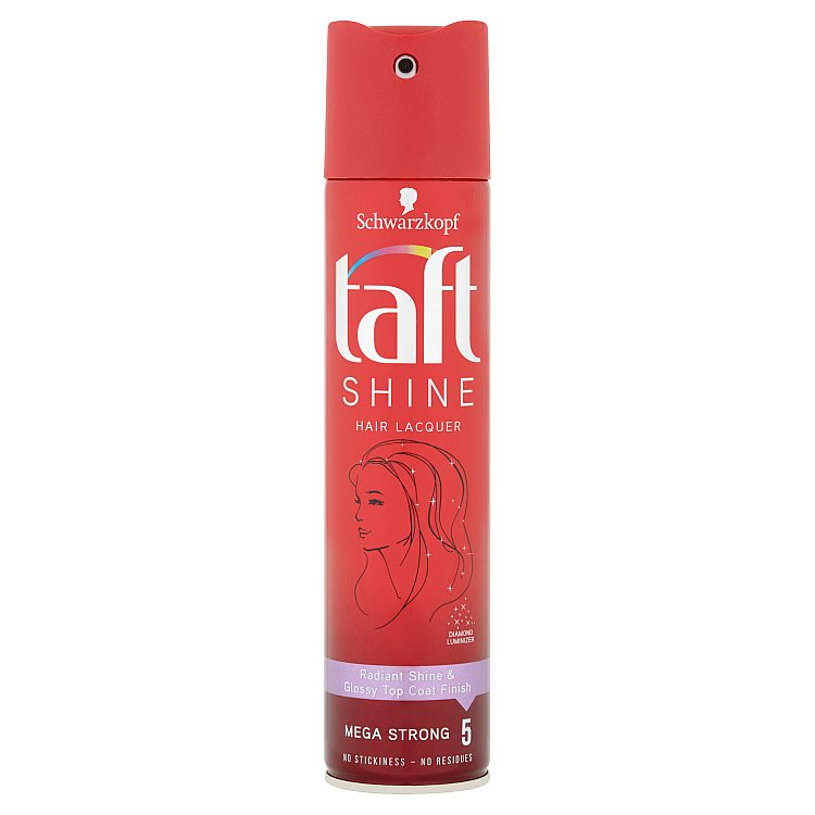 Taft Shine lak na vlasy mega silná fixace 250 ml