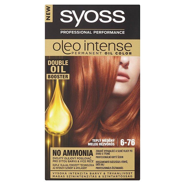Syoss Oleo Intense barva na vlasy Teplý měděný 6-76