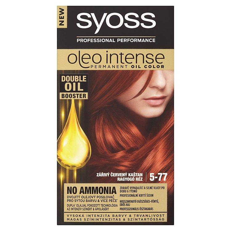 Syoss Oleo Intense barva na vlasy Zářivý Červený Kaštan 5-77