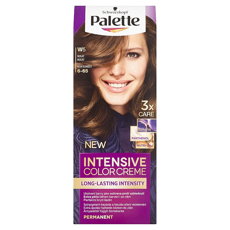 Fotografie Schwarzkopf Palette Intensive Color Creme barva na vlasy Nugát W5