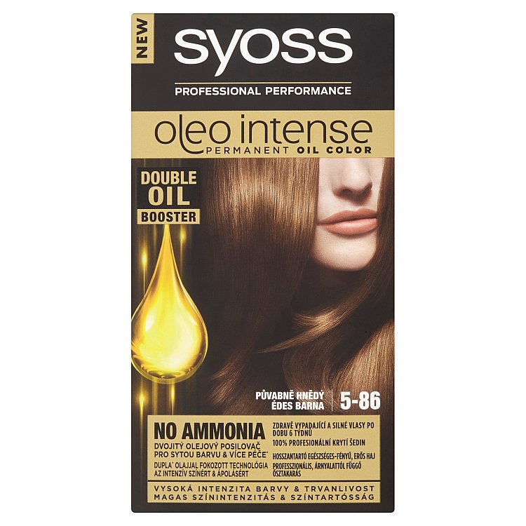Syoss Oleo Intense barva na vlasy Půvabně hnědý 5-86