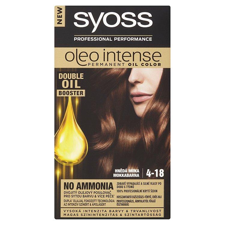 Syoss Oleo Intense barva na vlasy Hnědá moka 4-18