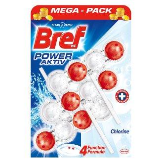 Bref Power Aktiv WC blok s chlorem 3 x 50 g