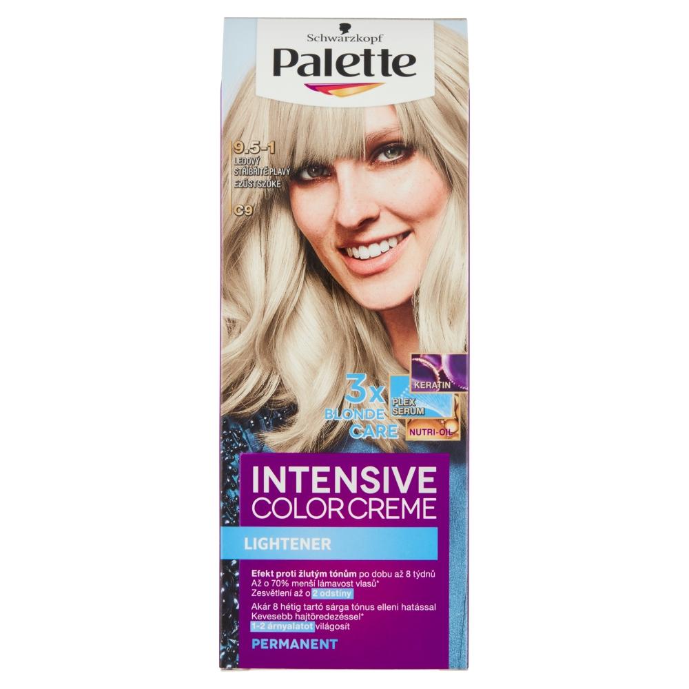 Schwarzkopf Palette Intensive Color Creme barva na vlasy odstín stříbřitě plavý C9