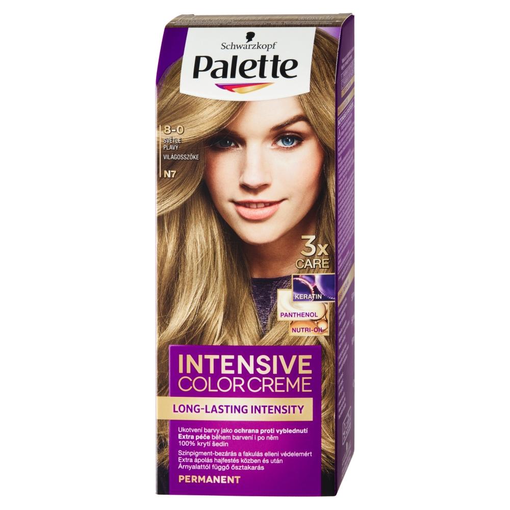 Schwarzkopf Palette Intensive Color Creme barva na vlasy odstín světle plavý N7