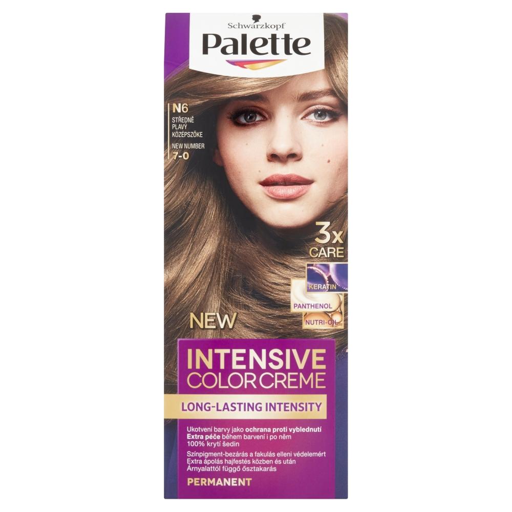 Schwarzkopf Palette Intensive Color Creme barva na vlasy odstín středně plavý N6