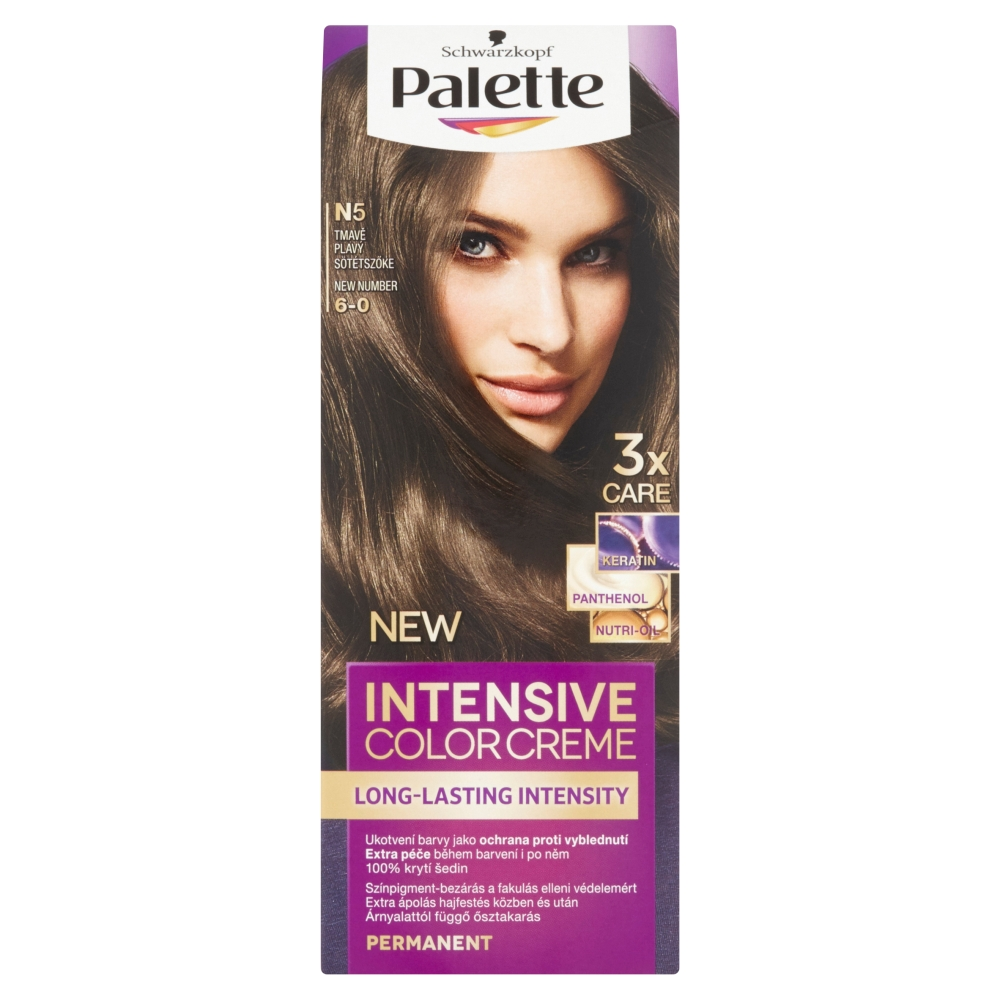 Schwarzkopf Palette Intensive Color Creme barva na vlasy odstín tmavě plavý N5