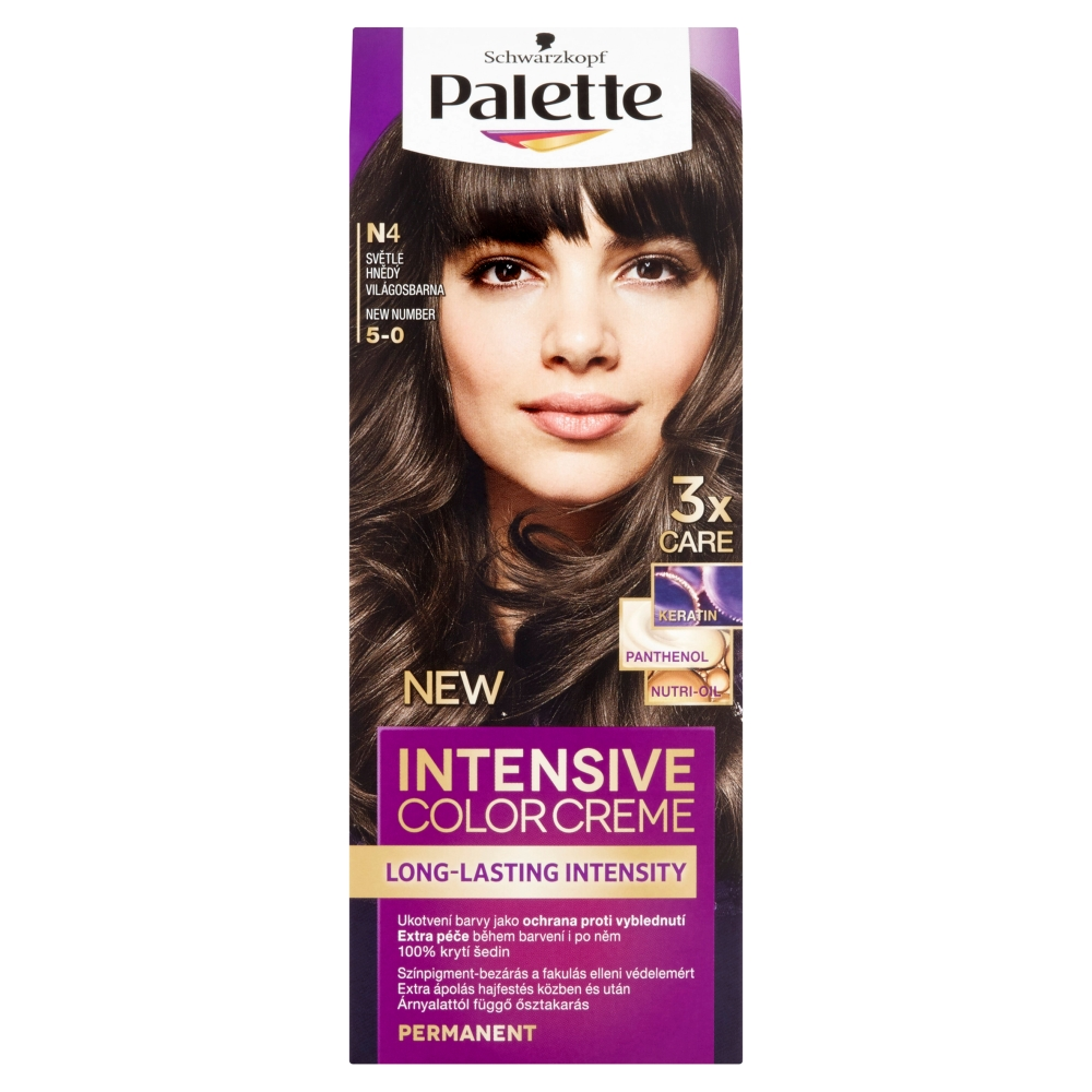 Schwarzkopf Palette Intensive Color Creme barva na vlasy odstín světle hnědý N4