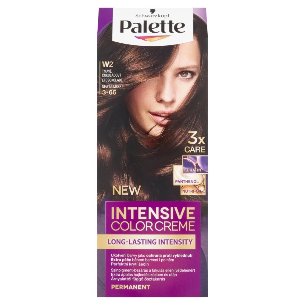 Schwarzkopf Palette Intensive Color Creme barva na vlasy odstín tmavě čokoládový W2