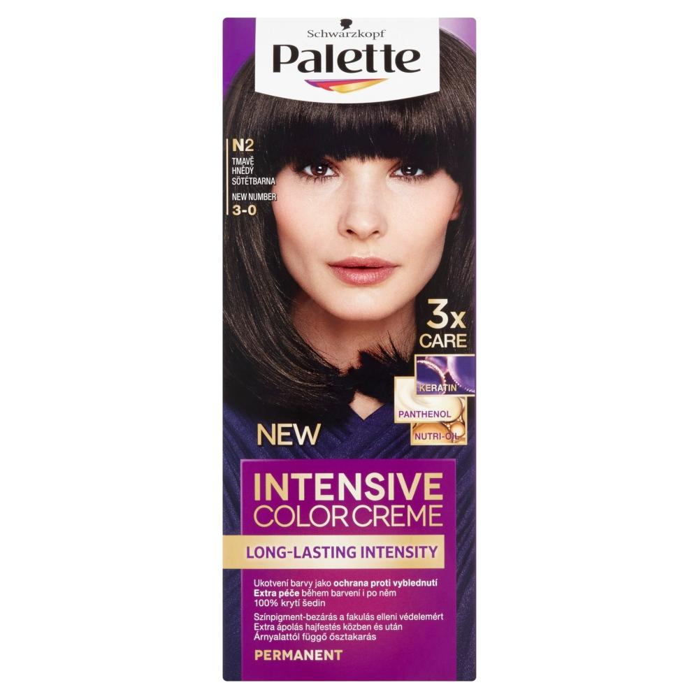 Schwarzkopf Palette Intensive Color Creme barva na vlasy odstín tmavě hnědý N2